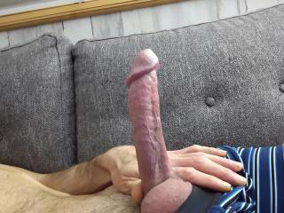 Hard and ready for a set of lips to suck on, or a tight pussy to ride it! Is your pussy ready to take it all?