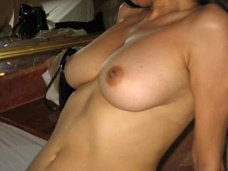 Perfect gorgeous tits, babe, very suckable.  Thanks for showing, really turned me on!