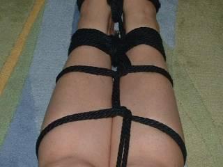 More leg and feet bondage.