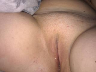 Her wide open welcoming pussy