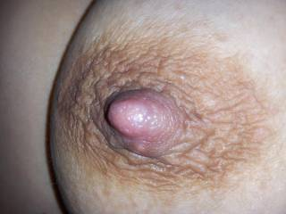 What do you think of my wife\'s nipple and areola?