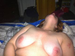 It would be nice to cum in her as sucking those beautiful boobs mmm