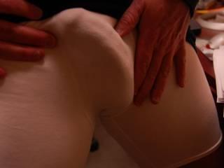 Starting to get stiff in thin undies. See the ridges, veins, head?  You like?