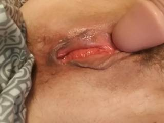 Had to take care of my sexually deprived pussy by myself again. She\'s so hungry for a cock buried balls deep.