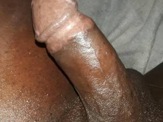 A close up of my cock, he\'s needing some loving ladies