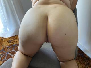 My girl bent over ready to be flogged and fucked