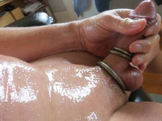 really oiled up and slippery