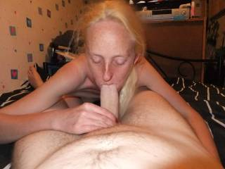 what a view my wife with my cock in her mouth