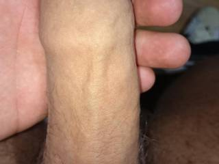 big, thick, uncut, so suckable. Love to take it in my mouth and feel it grow rock hard, head pushing into my throat, throbbing.....swelling harder....twitching as your cum shoots down my throat
