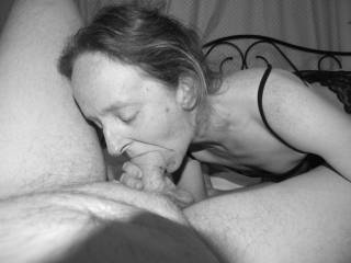 She does like to suck my cock