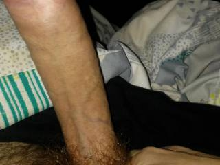 Who wants to suck this huge uncut cock?