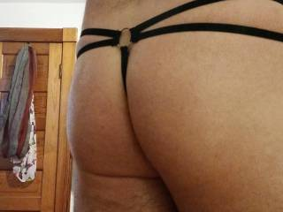 Back side in my g-string oiled up.
