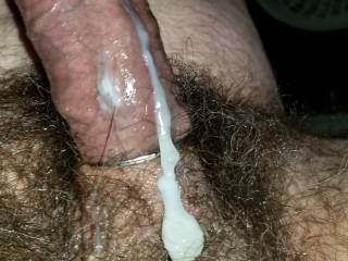 Who wants to lick my cum off my balls and clean my shaft?
