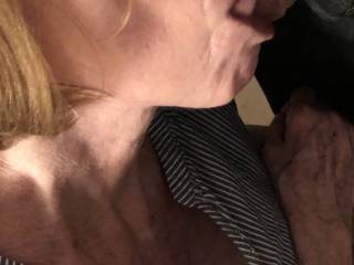 Another view of my sexy wife giving me some special attention.