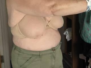 Show hubby the new bra