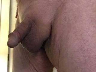 Shaved cock and balls.  who wants a smooth load of cream?