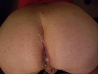 cum load on and in my ass