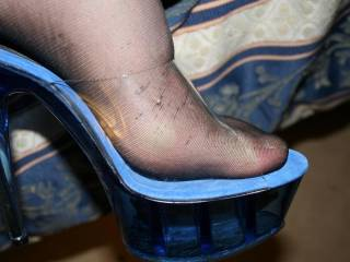 My Wife showing off her new slutty heels