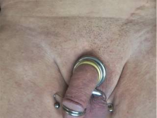 love to put rings on it. feels good. makes it hard,