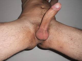 I would lick the head, then wrap my lips around it, tighten them around it and tug on it.  I would then lick my way down your shaft to your big cum filled balls and suck and lick on each one of them.  I like toying with a mans balls as much as I like sucking his cock....and I love sucking cock.   K   PS:  I swallow too.