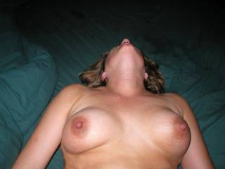 """@bg4u  She's not pierced. The ones you see in other pix are """"clip on"""". They're held in place by pinching. I wouldn't do that to her tits either!"""