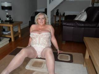 I could just spread those thighs of yours, and pull those panties out of the way and start to lick that sweet pussy lips of yours and lick your swollen clit till you squirt your warm juices all over the place and than get to start again cleaning up the juices  hmmmmmmmm
