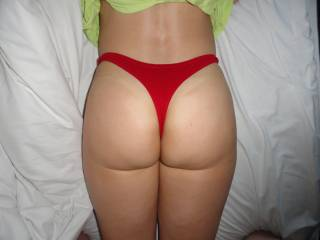 Her sexy ass is Christmas thong