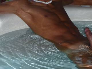 It's a great feeling being naked in an outdoor hot tub.   Anyone want to join me?