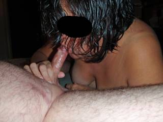 I love the feel of a big hard cock in my mouth!  Who's next?