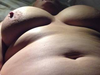 Here's another picture of my hard nipples