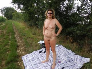 I like being naked outdoors too and would love to fuck you right there on the track.