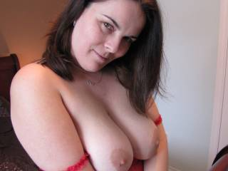 Well Thank You! Beautiful. I am loving the view ;) you look a mixture of irresistible and heavenly. So Ms, I hope you don't mind me being upfront in saying Id really love to try those tasty looking tits =). How might you allow me to enjoy you if so?  XoxO  Deep.Throat.Her.
