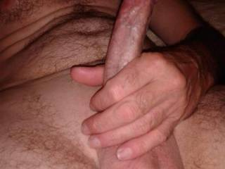 Rock hard and ready. Slow strokin and squeezing
