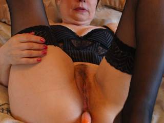 Inserted the carroy in her arse. WOW makes me horny and you?
