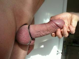 Nothing tastes better than a big tag hard smooth cock in a cock ring. I'll bet your cock tastes FANTASTIC!!!!  Awesome cock. Museum quality. It would be an honor to suck the cum out of that work of art!
