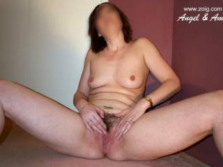 mmmm well let me get my tongue in there and you will really love it when you cum over and over