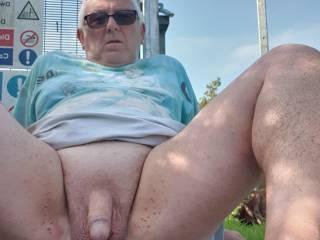 Naked outdoor fun