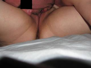 She loves getting her pussy eatin. Who's next? I love to eat pussy
