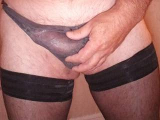 Looking for a way out. Shall I release my cock?