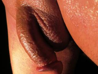 I want to take your soft cock and balls in my mouth and let you grown inside me! Very hot pic love the bald look that is the best!