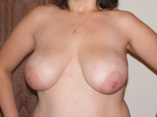 Love those big areolas on your huge tits!  My cock is throbbing!