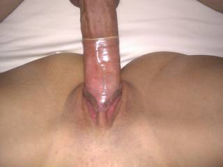 Damn.condom is to short to fit on your cock. Wish I had that problem lol