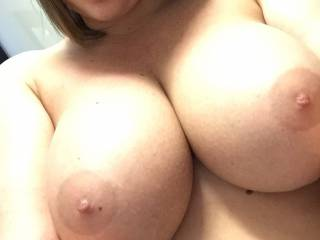Please, suck my cock with your sweet mouth and let me spray your beautiful tits with my cum !!