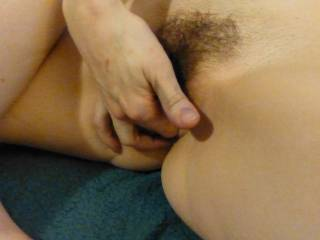 The wife fingering her girlfriend's tight pussy