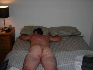 Ahhh! I just love the feel of nice clean sheets against my naked body! I sure could use a good firm massage right now!