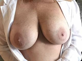 Wifey\'s Tit Closeup! Would Love some Tributes!