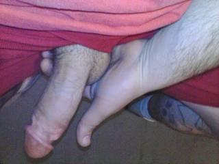 My hard cock fucking my hand