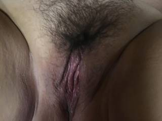 Does my hairy pink pussy look hungry ??