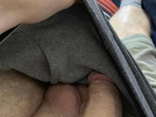 I look down into my undies 👀🍆