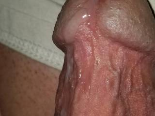 I was stroking his cock it just started to let go!